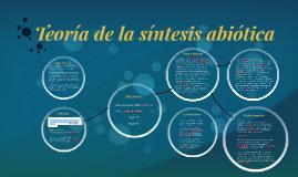 Teoría de la sístesis abiótica