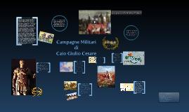 Le Conquiste militari di Caio Giulio Cesare