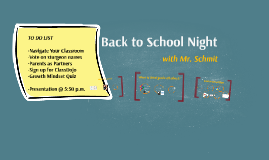 Updated Back to School Night