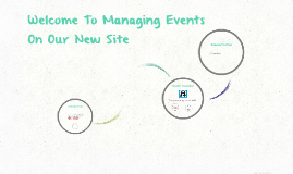 Managing Events to Our New Public Website