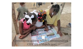 Communications with Communities: Starting the Conversation