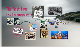 The first time that woman vote