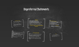 Dispreferred Statements