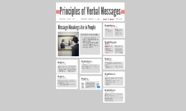 principles of verbal messages Principles of management, v 10 by both verbal and written communications convey nonverbal messages through tone verbal communications are also colored by.