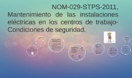 NOM-029-STPS-2011, Mantenimiento de las instalaciones eléct