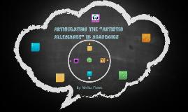 """Articulating the """"Artistic Allegiance"""" in Academics"""
