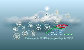 Evènements SFPIO Auvergne de 2002 à 2016
