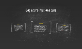 Gap years: Pros and cons