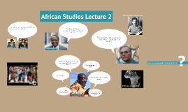 African Studies Lecture 2