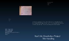 Real Life Quadratic Project