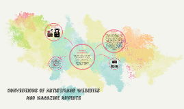 cONVENTIONS OF BAND WEBSITES AND MAGAZINE ADVERTS