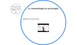 La metodología en psicología