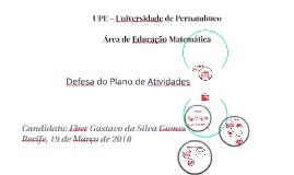 Plano de Atividades - Educação Matemática -  UFRPE