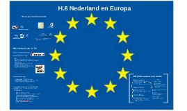 H.8 Nederland en Europa