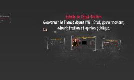 Les échelles de gouvernement dans le monde