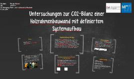 Untersuchungen zur CO2-Bilanz einer