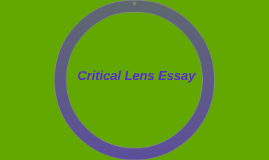 critical lens essay on the color of water