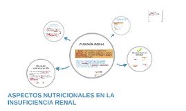 ASPECTOS NUTRICIONALES EN LA INSUFICIENCIA RENAL