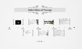 Baha'i Rites of Passage