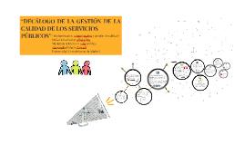 """""""DECÁLOGO DE LA GESTIÓN DE LA CALIDAD DE LOS SERVICIOS"""