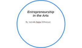 Entrepreneurship in the Arts