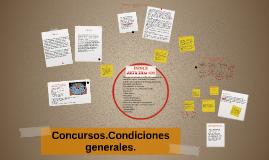 Concursos.Condiciones generales.