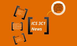 ICS 3C1 News May 18th