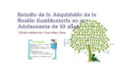Estudio de la adquisición de la noción combinatoria en un Ad