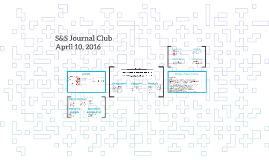 S&S Journal Club