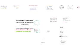 Seminario: Elaboración y redacción de artículos científicos 18-6-19