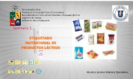 Copy of ETIQUETADO NUTRICIONAL DE PRODUCTOS LÁCTEOS