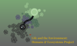 Life and the Environment: Humans & Ecosystems Project
