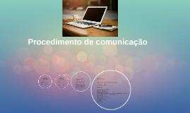 Procedimento de comunicação