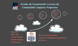 Prueba de Comprensión Lectora de Complejidad Lingüista Progr