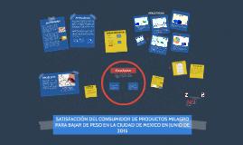SATISFACCIÓN DEL CONSUMIDOR DE PRODUCTOS MILAGRO PARA BAJAR