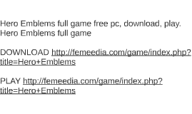 Hero Emblems full game free pc, download, play. Hero Emblems