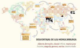DESVENTAJAS DE LOS HIDROCARBUROS