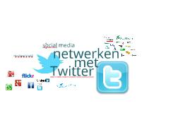 Netwerken met Twitter