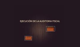 EJECUCUIN DE LA AUDITORIA FISCAL