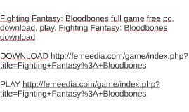 Fighting Fantasy: Bloodbones full game free pc, download, pl