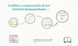 Análisis y comparación de los métodos lectoescritores