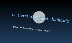 La TiieRRa uN PLaNeTa HaBiiTaDo
