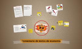 Comentario de textos de economía