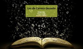 LEY DE CARRERA DOCENTE