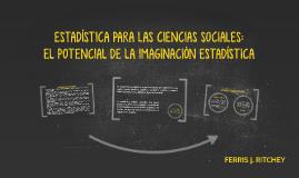 ESTADÍSTICA PARA LAS CIENCIAS SOCIALES: