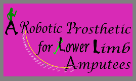 A Robotic Prosthetic for Lower Limb Amputee