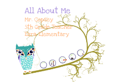 "Copy of ""All About Me"" (Teacher Model/ Introduction)"