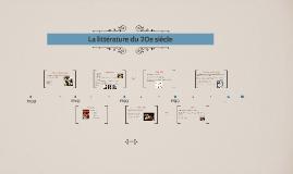 Copy of La littérature du 20e siècle