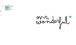 Mr. Wonderful - análisis