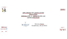 Diplomado en Legislación Educativa - Módulo No. 8